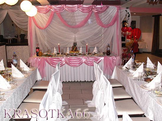 Начать украшение свадебного зала