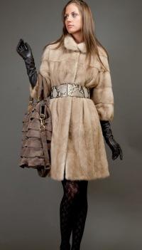 Шубы из норки - модные шубы на зиму 2010